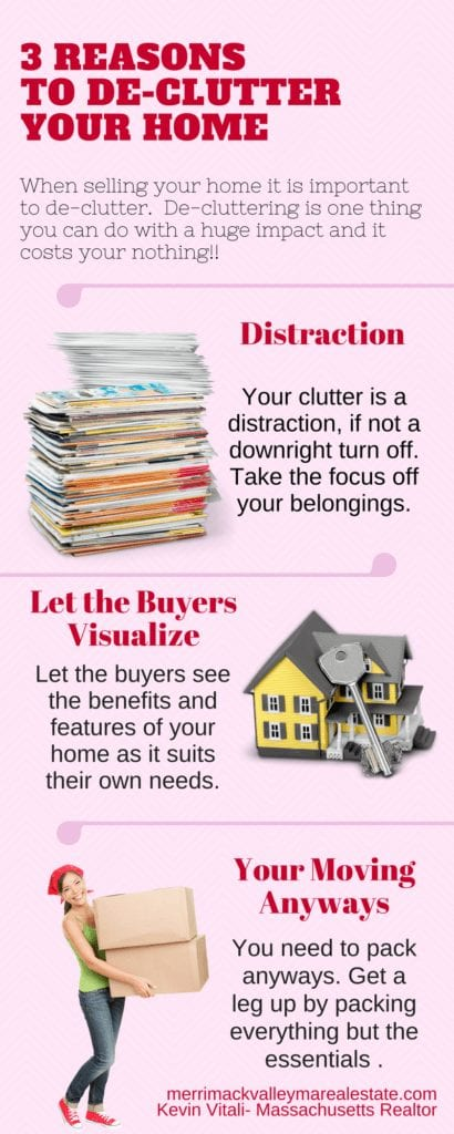3 Reason you should consider decluttering your home when selling.