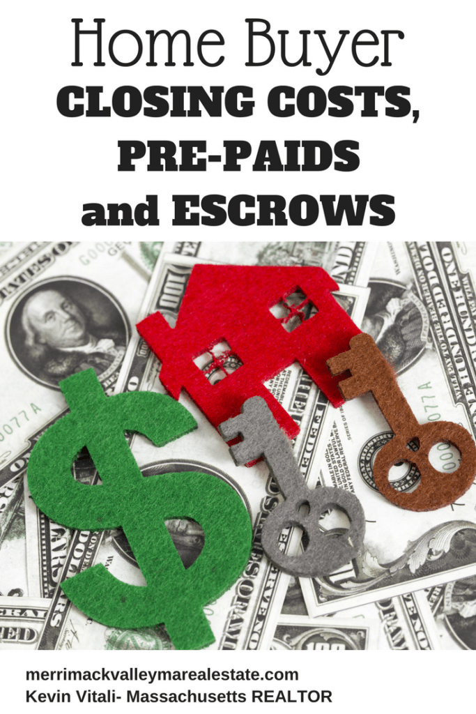 Home Buyer closing costs prepaids and escrow