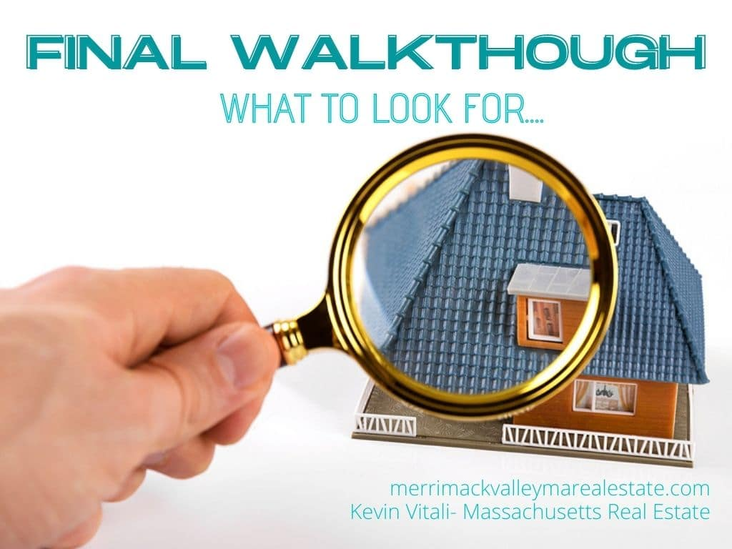 what to look for during your final walkthough